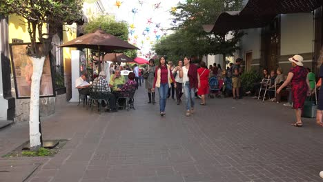 Mexico-Tlaquepaque-Woman-In-Red-Dress-And-Others