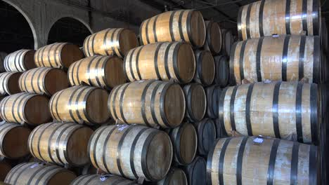 Mexico-Barrels-In-Tequila-Factory