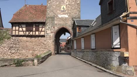 France-Alsace-Dambach-La-Ville-Looking-Through-Town-Gate