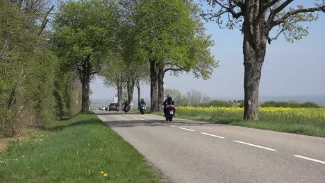 France-Alsace-Motorcycles-On-Road-With-Sound