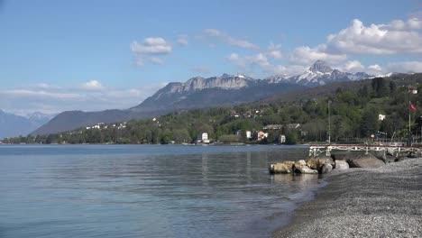 France-Lac-Leman-Beach-And-Mountain