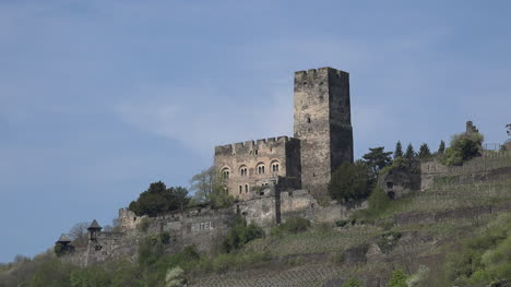 Germany-Burg-Gutenfels-And-Blue-Sky