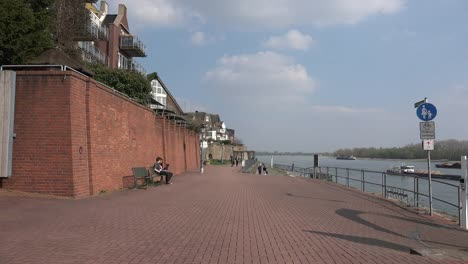 Germany-Rees-Brick-Walk-And-Walls-By-Rhine-River