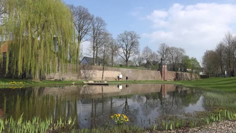 Germany-Rees-Medieval-Wall-And-Pond