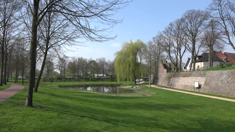 Germany-Rees-Park-With-Pond-And-Wall