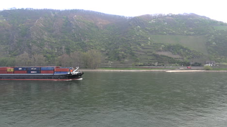 Germany-Rhine-Container-Barge-Time-Lapse