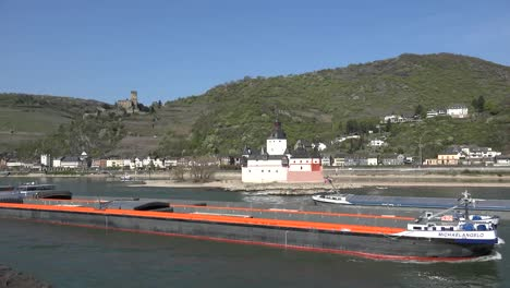 Germany-Barges-Passing-On-Rhine-River