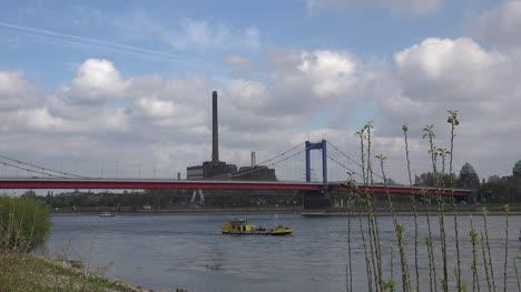 Germany-Clouds-Over-Rhine-Bridge-At-Duisburg