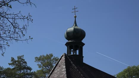 Germany-Country-Chapel-With-Bell-Ringing-And-Blue-Sky-With-Sound