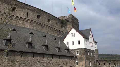 Germany-Flags-Fly-From-The-Restored-Part-Of-Burg-Rheinfels