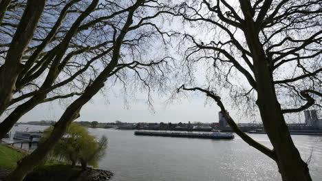 Netherlands-Schoonhoven-Big-Barge-On-De-Lek