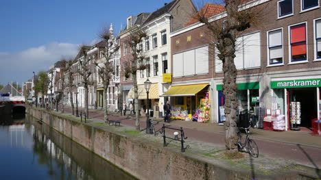 Netherlands-Schoonhoven-Downtown-And-Canal