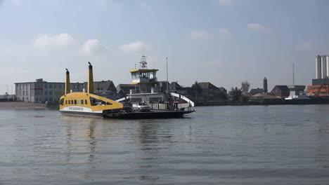 Netherlands-Schoonhoven-Ferry-Comes-In