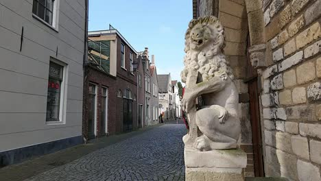 Netherlands-Schoonhoven-Lion-And-Street-View