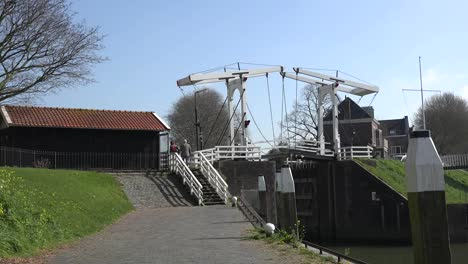 Netherlands-Schoonhoven-Steps-To-Drawbridge-Zoom-In