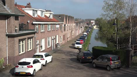 Netherlands-Schoonhoven-Street-And-Canal