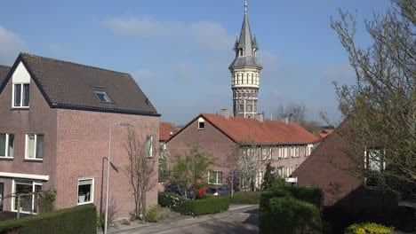 Netherlands-Schoonhoven-Watchtower-View-Zoom-In