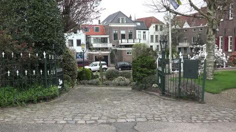Netherlands-Brick-Path-With-Birds