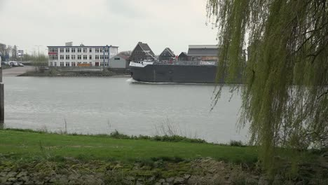 Netherlands-De-Lek-With-German-Barge
