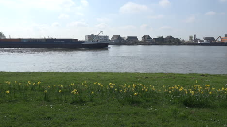 Netherlands-De-Lek-With-Barge