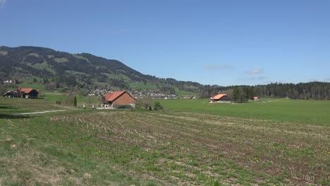 Switzerland-La-Gruyere-Farmhouses-In-Countryside