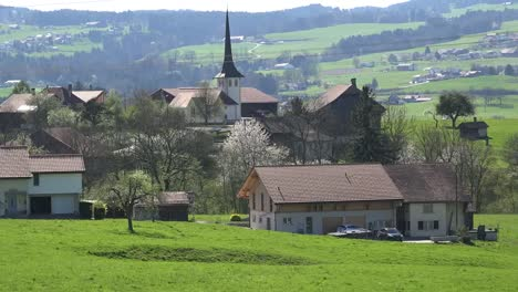 Switzerland-La-Gruyere-Village-In-Spring