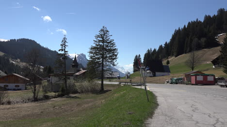 Switzerland-Scene-Of-Road-With-Bicycle-Near-The-Col-Des-Mosses