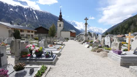 France-Argentiere-Church-And-Cemetery