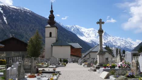 France-Argentiere-Church-And-Cross-With-Alps