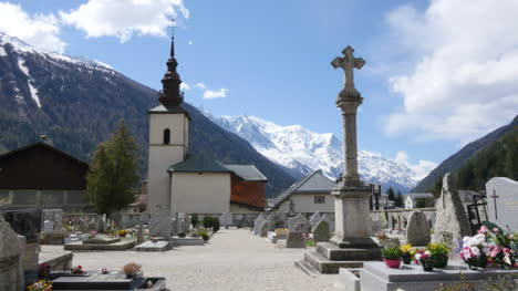 France-Artentiere-Church-With-Alpine-View-And-Cemetery