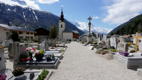 France-Artentiere-Church-With-Mountain-View-And-Cemetery