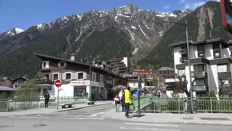 France-Chamonix-People-Walking-On-Sidewalk
