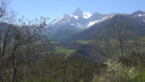 France-Gran-Tete-De-l-Obiou-And-Early-Spring-Trees