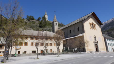 France-Jausiers-Church-And-Hill-With-Tower
