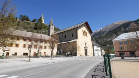 France-Jausiers-Church-And-Road