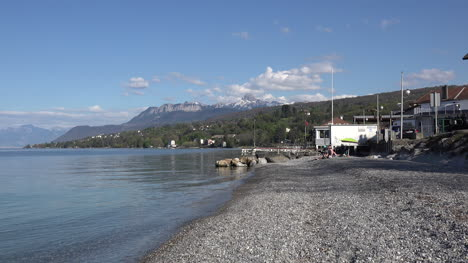 France-Lac-Leman-People-On-Beach