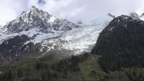France-Mont-Blanc-Les-Bossons-Glacier-View