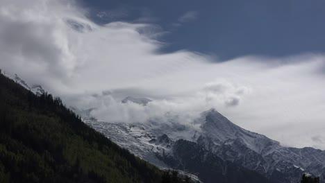 France-Mont-Blanc-Sheet-Of-Cloud-Time-Lapse