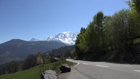 France-Mont-Blanc-With-Motorcycle-On-Road-With-Sound