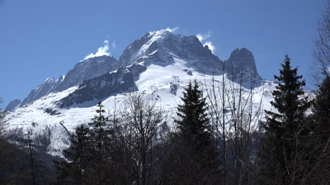 France-Mont-Blanc-With-Trees-In-Foreground