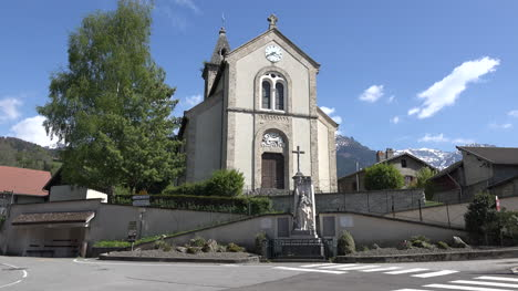 France-Revel-Belledonne-Church-And-Wwi-Statue