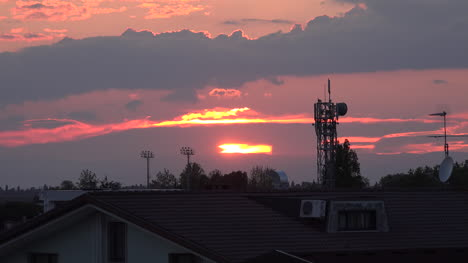 Italy-Sunset-With-Telecommunications