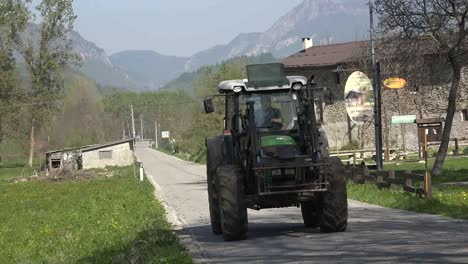 Italy-Tractor-On-Country-Road