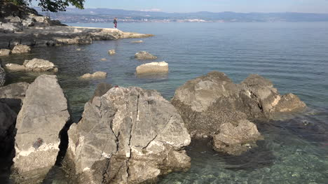 Croatia-Adriatic-Coast-With-Rocks-At-Mid-Tide