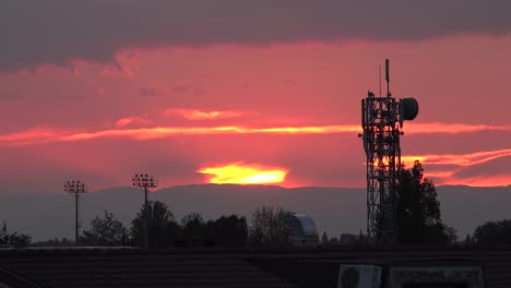 Italy-Sunset-And-Telecommunications-Tower