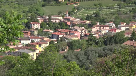 Italy-View-Of-Village-With-Red-Roofs