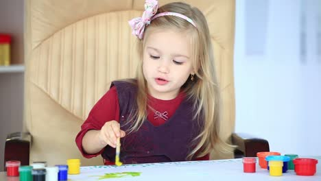 Girl-Learns-To-Paint-With-A-Brush1