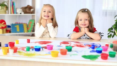 Laughing-children-look-into-the-camera