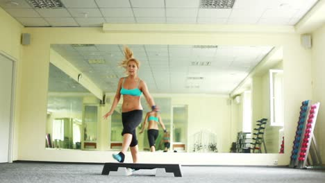 Woman-Doing-Exercises-With-Steppe-Part-3-Of-8