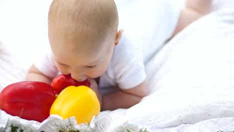 Baby-Trying-To-Taste-Vegetables